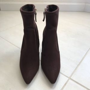 Nine West Candence Faux Suede Zip Booties